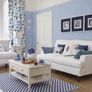 blue-living-room ideal home |