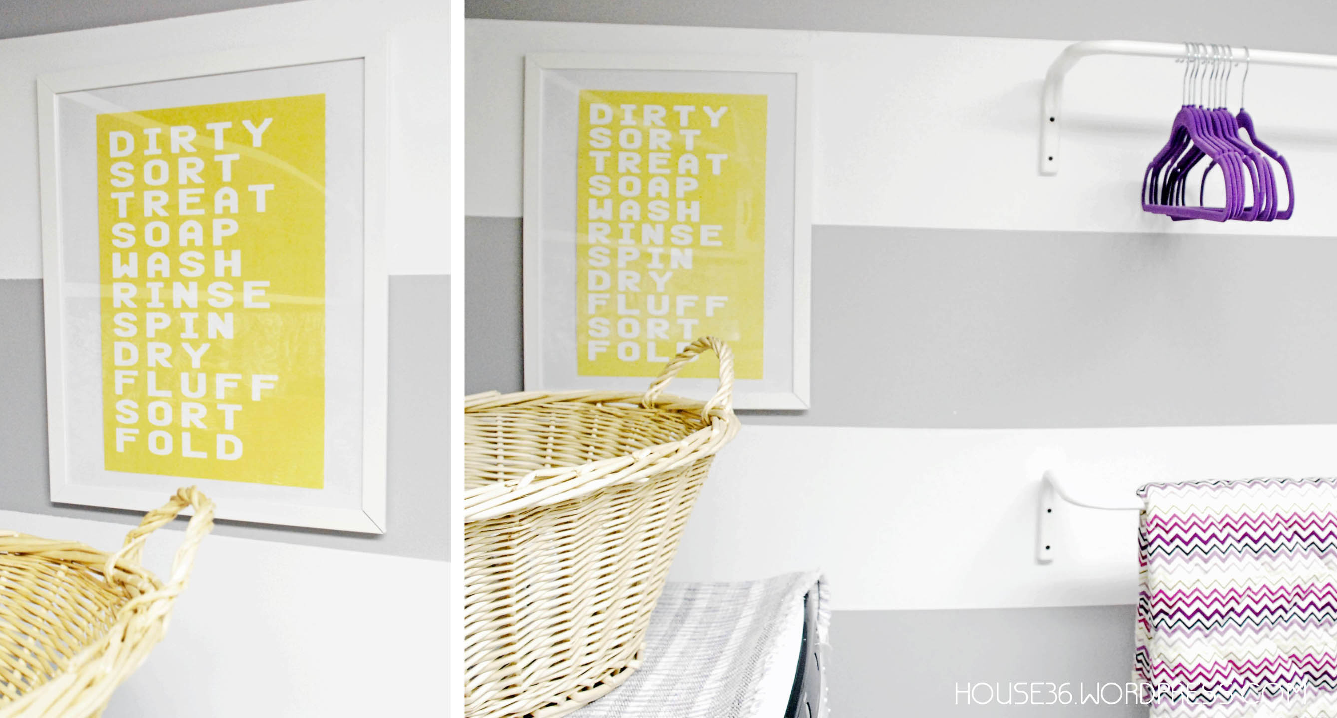 Framed Laundry Room Prints | Wall Plate Design Ideas